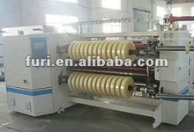 FR-218 Adhesive Tape/Label/Paper/PP/PVC/OPP/PET/PE/Foam/Fabric Roll Slitting Machine/Slitter