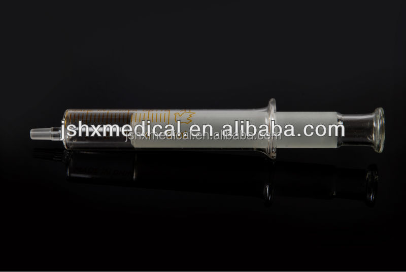 low resistance disposable glass Syringe