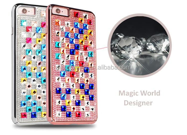 Luxury Designer 360 Protect Diamond Gold Plating For iPhone 7 Case