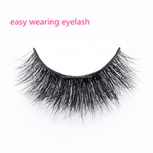 Newest design 3D fluffy mink fur eyelashes with customized packaging