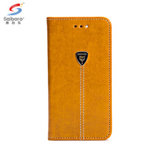 Luxury mobile cell phone brown flip folding wallet pu leather case for iphone x,for iphone x leather case with card holder