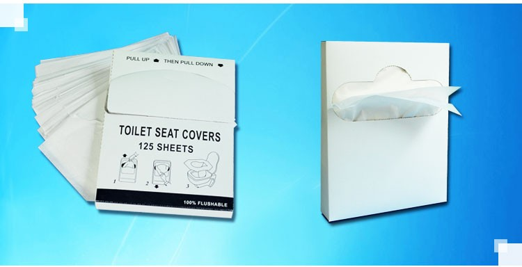 1/4 fold wholesale 1 ply hygienic paper toilet seat cover