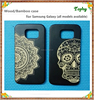 wholesale wood mobile phone case for iphone 6, bamboo back cover for samsung galaxy s6