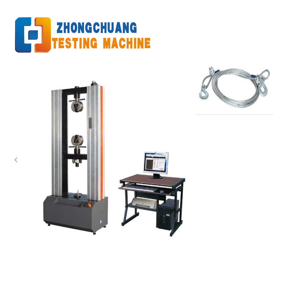 100kN Computer Control Electronic Wire Rope Tensile Strength Testing Machine Price Tension Tester Supplier