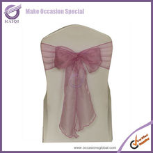 crystal organza bows chair sashes cheap chair wraps in various color
