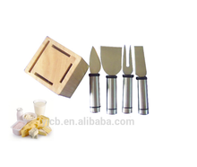 Wood block and metal cheese tool dairy cheese equipment