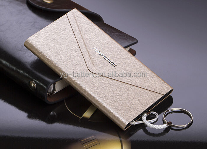 Universal Power Bank Charger 4000mah Wallet Design Ultra Slim Polymer External Battery Portable Charger with Keychain
