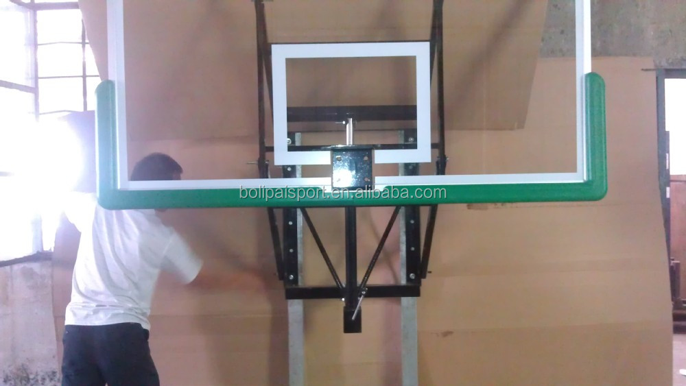 Guangdong China Good Quality Wall Mounting Tempered Glass Basketball Backboard System
