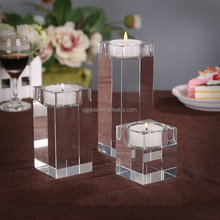 Wedding Decoration Luxury Crystal Candlesticks Glass Candle Holders Candle Jars