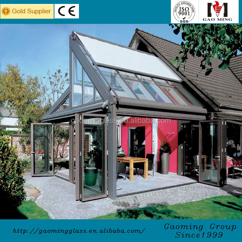 ISO9001 quality insurance sun roof for house glass sheet greenhouse wall sheets