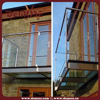 building trades cover balcony glass railings photos