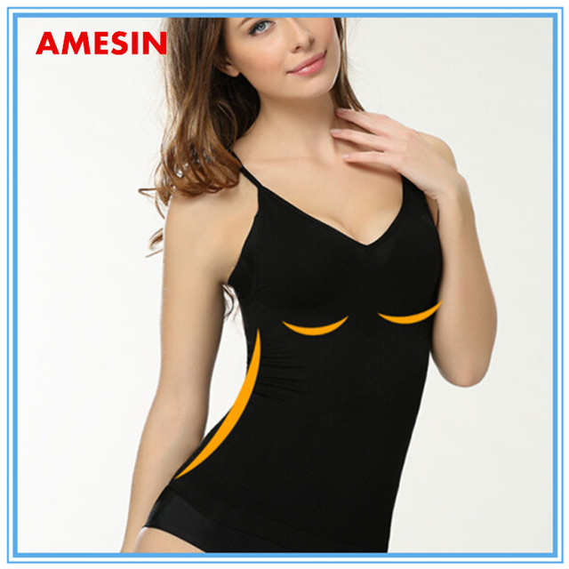AMESIN body shaper body slimming camisole tops 100% cotton high quality