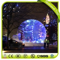 2017 Outdoor Decorations Clear Dome Christmas Human Life Large Size Inflatable Snow Globe For Live Show