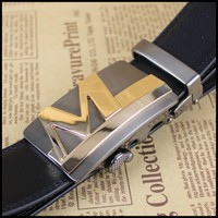 automatic belt buckle in genuine leather belts