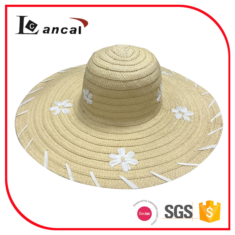 ladies natural 100% paper floppy hat