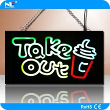 LED illuminated rechargeable battery powered 12V mini LED display/moving message LED sign/car brand signs names