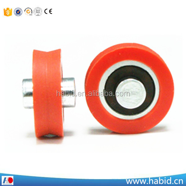 Free sample window cheap and hard injection nylon plastic pulley wheels &roller follow your drawing