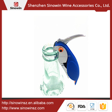 Red Wine Screw Corkscrew with Bird Shape Wine Corkscrew Knife And Metal Double Hing