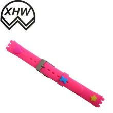18/19/20/22/24mm Silicone Rubber Sport Waterproof Watch Band Strap Deployment Buckle