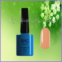 Natural empty glass bottle for nail polish use