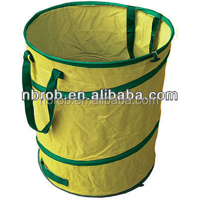 Pop up collapsible garden bag for leaf collector