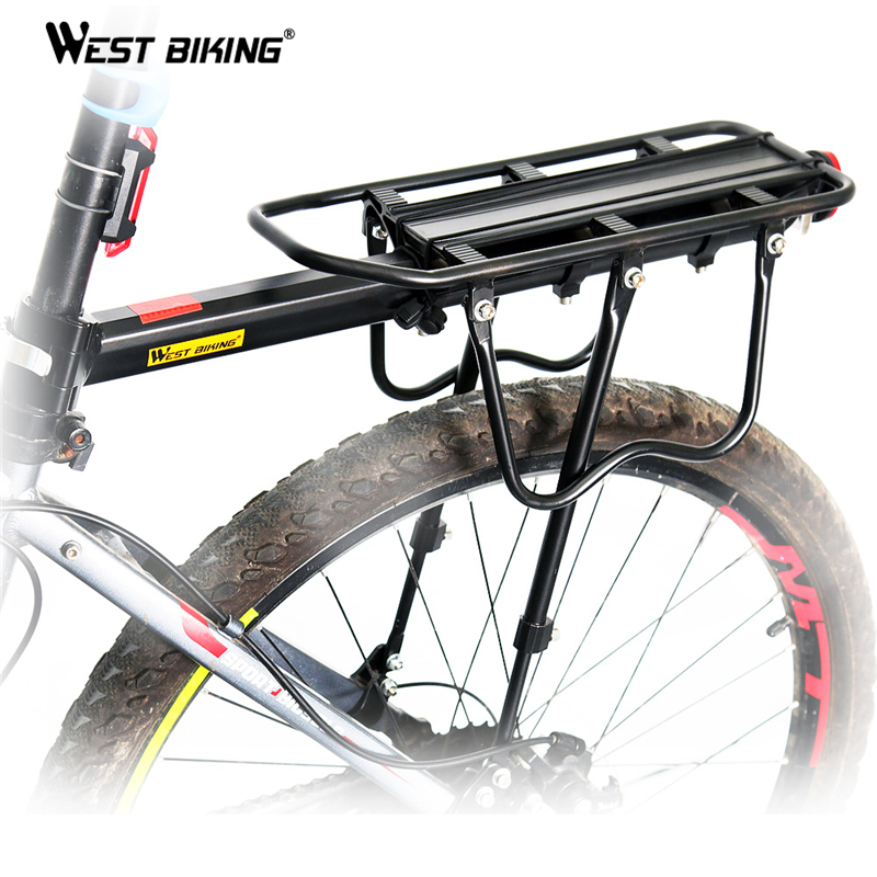 WEST BIKING Bike Racks Luggage Cycling Accessories Equipment Stand Footstock V Brake Disc Kickstand Mountain Bicycle Rear Rack