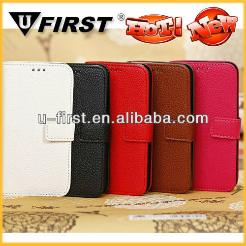 Lichee pattern leather case for samsung galaxy S4 mini