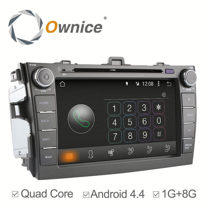 Car radio Player Ownice C180 radio player for Toyota Corolla 2007 2008 2009 With DVD Built in Canbus bluetooth