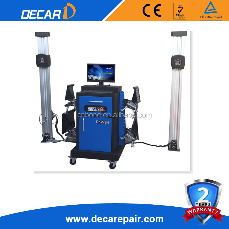 DECAR portable sunshine wheel alignment equipment used 3d wheel aligner DK-V3H for sale