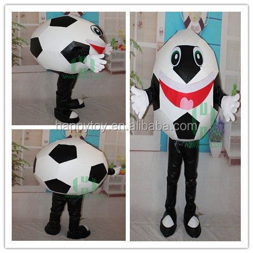 HI CN 71Football mascot costume,football prince mascot suits,funny with red big mouth football costume