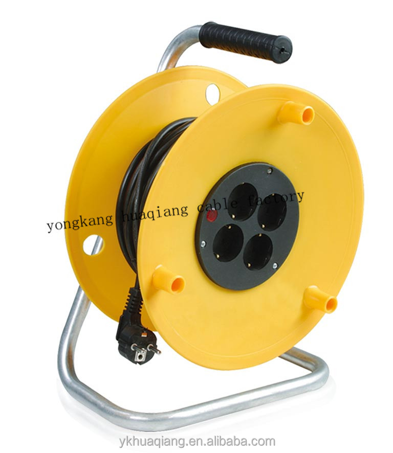 European socket cable reel