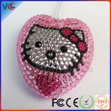 Computer accessory Wired USB Cute Beautiful Gift bling heart computer mouse