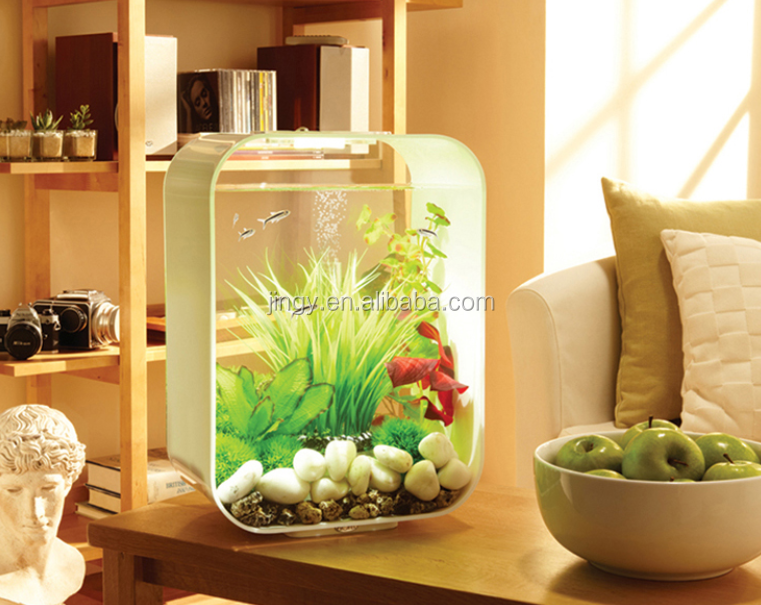 Factory custom clear square shape PMMA fishbowl plexiglass aquarium acrylic fish tank