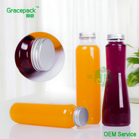 Free sample hot sale 300ml 350ml 500ml empty pet soft plastic juice bottle