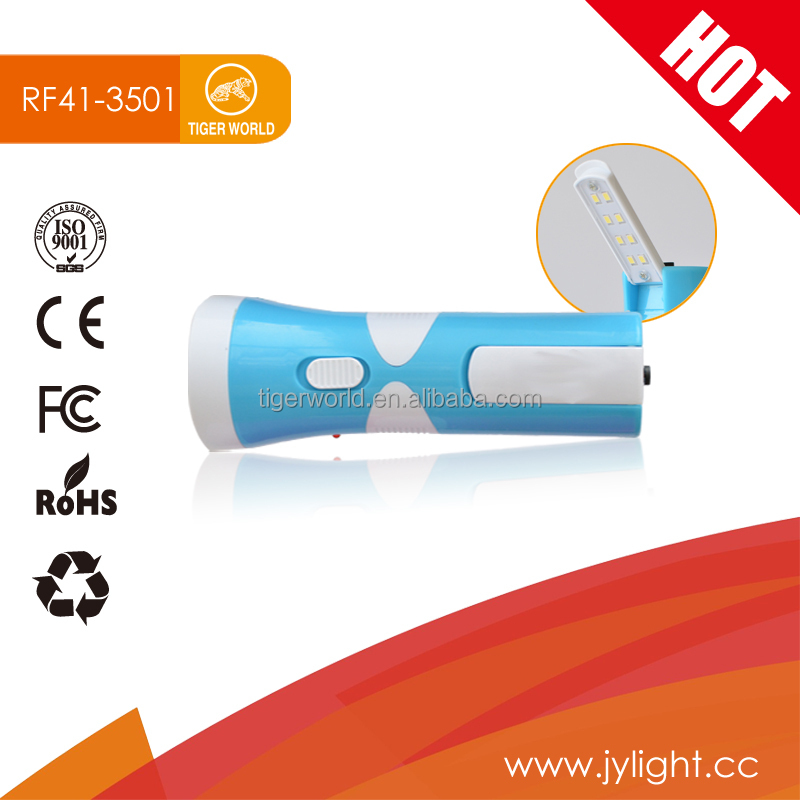 Tiger World Hot Sales LED Rechargeable Flashlight with LED Lamp