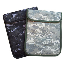 Army Camouflage Protective Anti-radiation Anti-tracking Anti-spying GPS Rfid Signal Blocker Bag