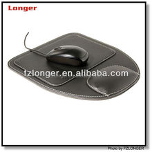 Customized hot selling and competitive price PU leather computer mouse pad