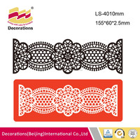 Eyebrow lace shaped express lace mat for fondant cake decoration china manufacturer