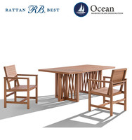 Luxury modern design wooden teak outdoor furniture