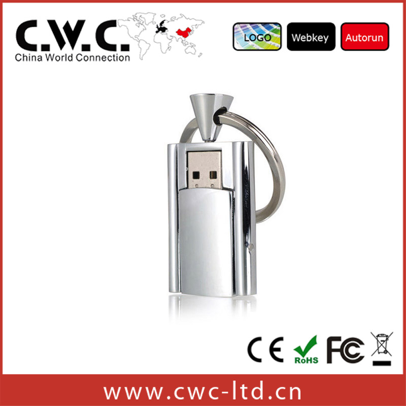 High speed silver metal usb flash drive for promotion