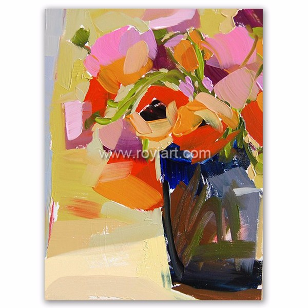 Wholesale Decorative Modern Art Flower Oil Painting on Canvas