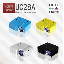 UNIC 2017 hot 50lumens led projector mini projector kids projector UC28A