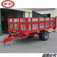 6 tons agricultural farm hydraulic dump tipper trailer