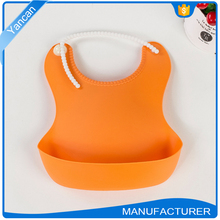 Silicone Baby Bibs Rubber Cloths Easy Cleaning Silica Gel Bibs Feeding Bids