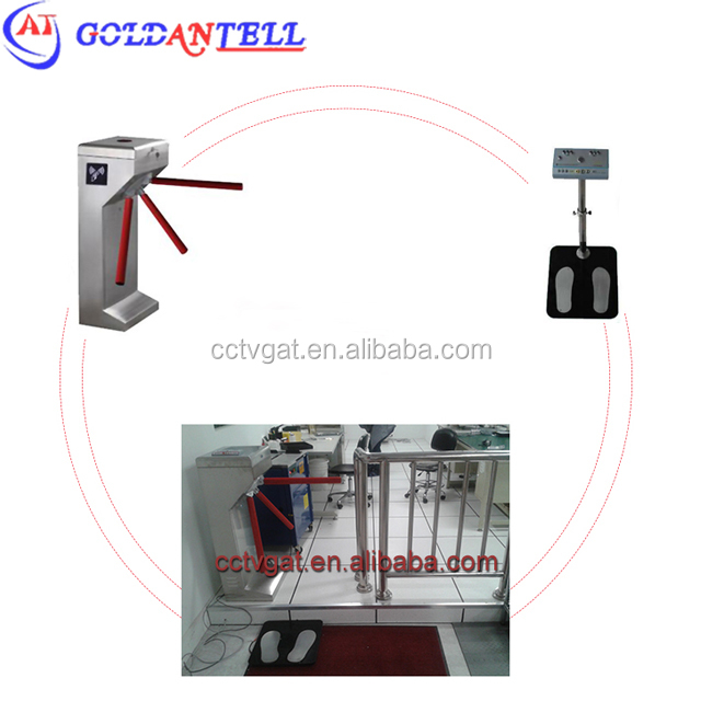 Factory tripod 3 arms turnstile esd test gate with esd check shoes