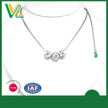 Tailor made Bulk Zinc Alloy Metal Beaded Balls Jewelry with crystal Silver Necklaces Pendant for women
