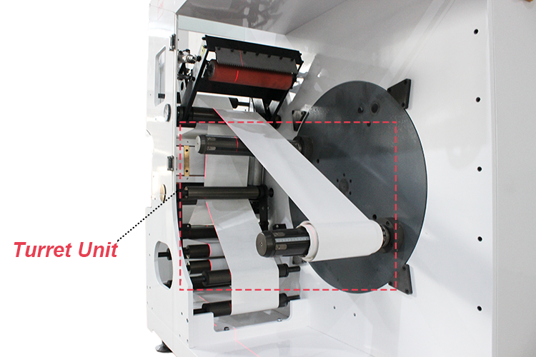 DINGYU new turret rewinder non stop increase printing benefits get advantage