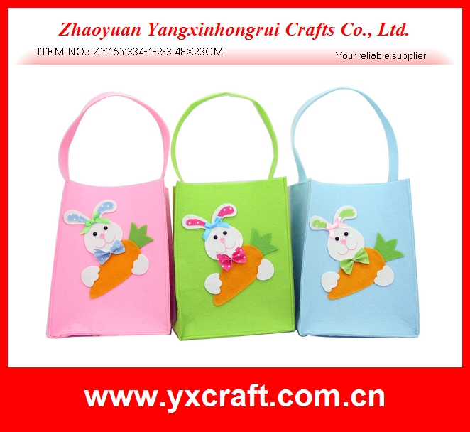 Easter decoration (ZY15Y334-1-2-3 48X23CM) easter bag bunny holding carrot easter day special decoration