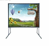 Top quality ! foldable projector screen with carrying case 300 inch projector screen