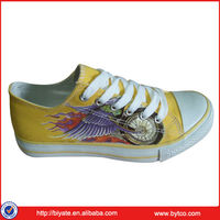 Yellow Rubber Sole Latest Canvas Shoes